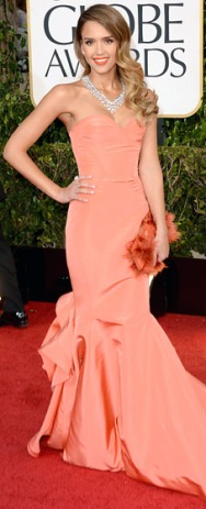 Jessica Alba in Oscar de la Renta