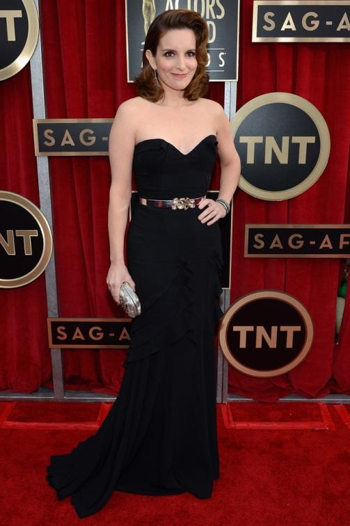 Tina Fey in Oscar de la Renta