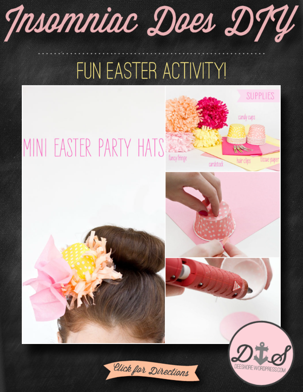 Insomniac Does DIY - Mini Easter Party Hats
