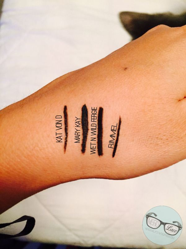Eyeliner Swatches Before