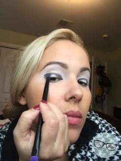 Applying Black Liner
