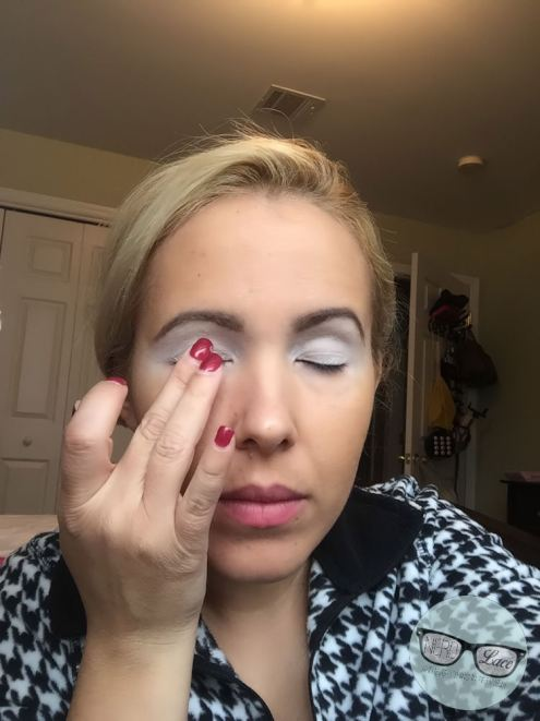 Applying Nyx Eyeshadow Base