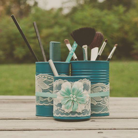 DIY Can Makeup Brush Holder 2