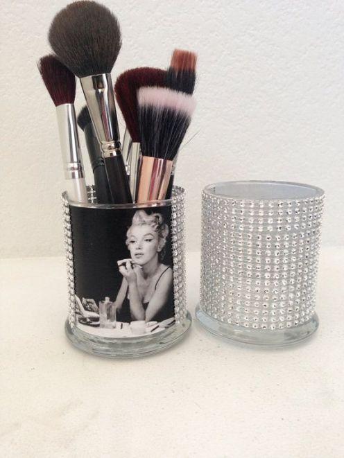 DIY Glam Makeup Brush Holder