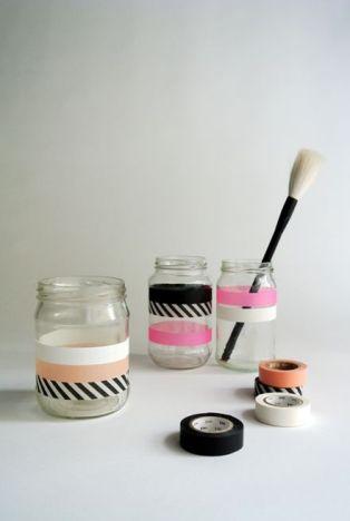 DIY Washy Tape Makeup Holder 2