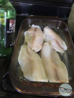Tilapia Step 3 - Squeeze Lemon Juice & Drizzle Oil