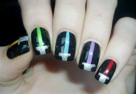 Lightsaber Nails