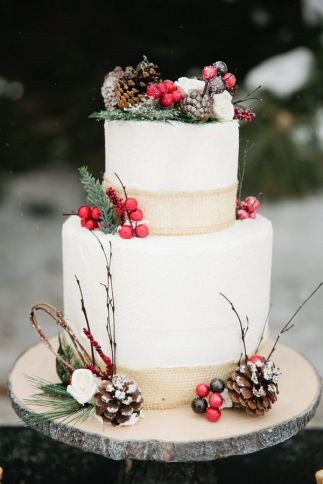 Wedding Christmas Cake 6