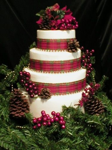Wedding Christmas Cake 9