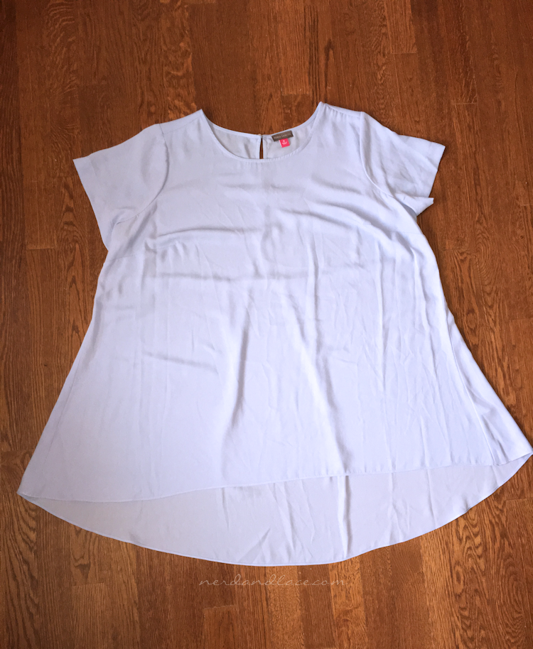 PLVSH Box 5 - Vince Camuto Short Sleeve High Low Hem Blouse