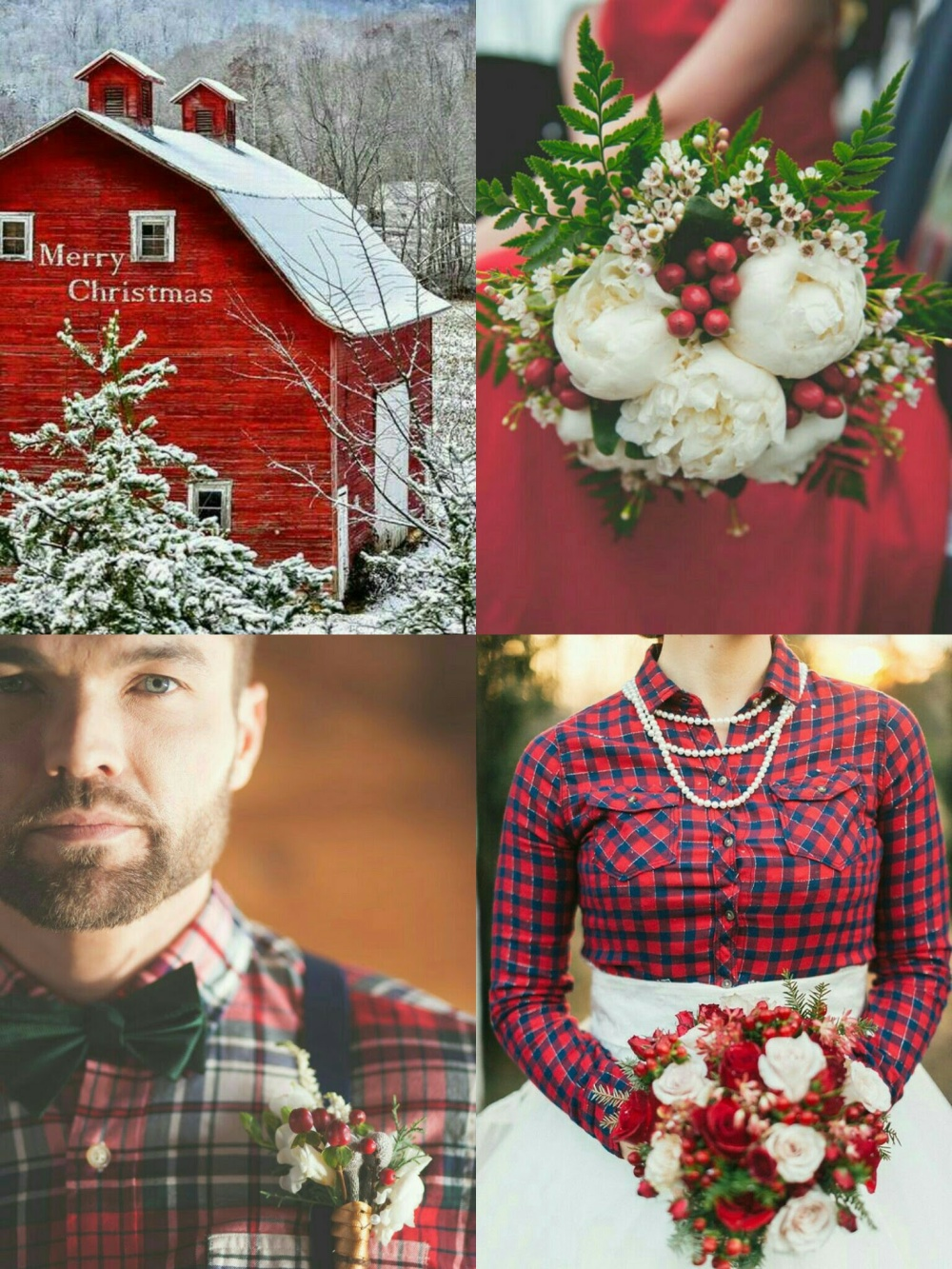rustic-plaid-christmas-wedding-1