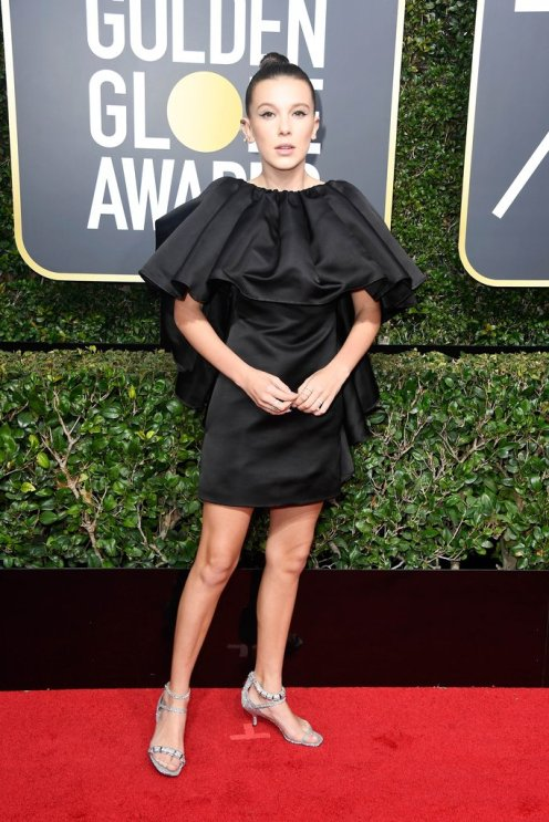 Millie Bobby Brown Golden Globes 2018 (1)
