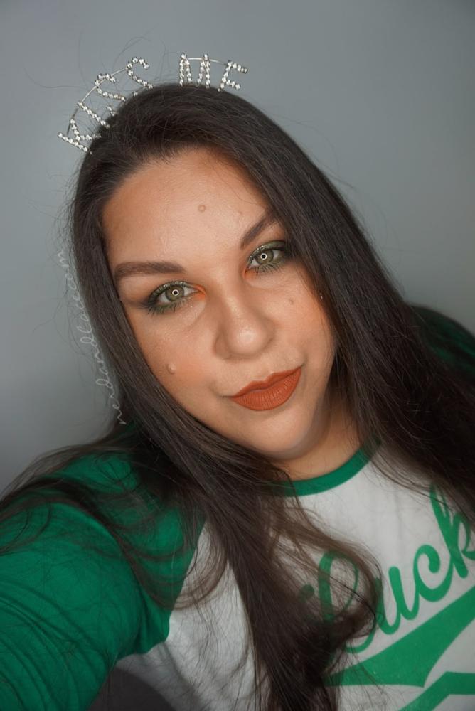 St Pattys Glitter Makeup 1