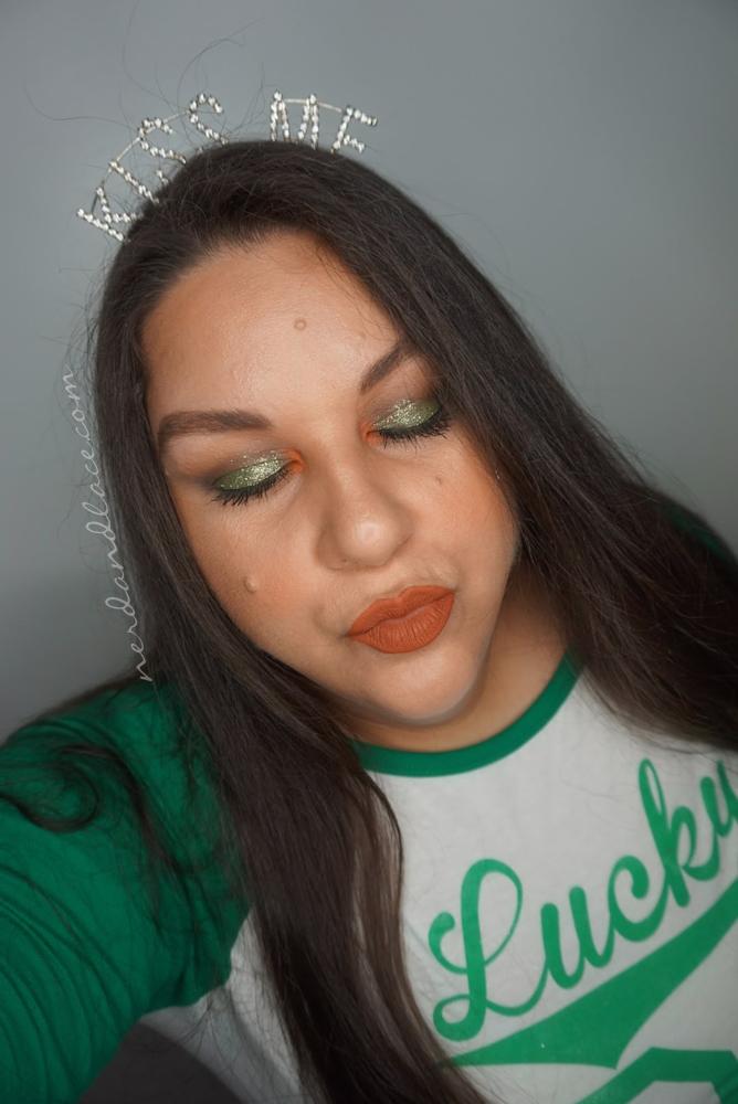 St Pattys Glitter Makeup 5